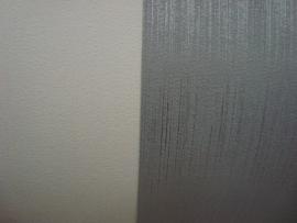 effe zilver of creme vinyl behang 80