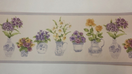behangrand breed bloemen planten xt8