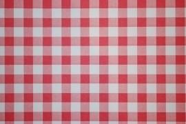 rood wit ruiten behang xx35