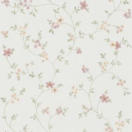 Engelse bloemen behang  63770-1