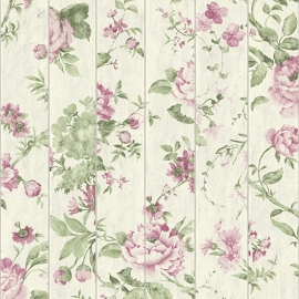 Bloemen op Hout Behang L136-03