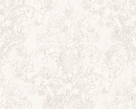 Vintage behang barok beige creme metalic 96105-1