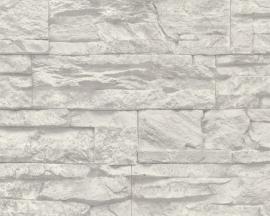 AS Creation Murano 7071-16 Stone grijs wit steen behang