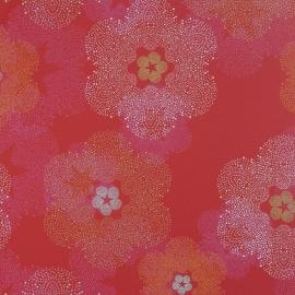 BN Wallcoverings Impulse behang 48340 rood roze oranje grijs bloeme behang