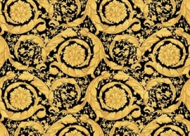 93583-4 zwart goud patroon  versace behang