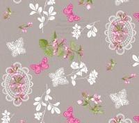 tafelzeil bloemen 3872/01 kant vlinder