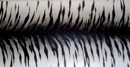 tijgerprint behangrand zwart wit