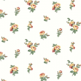 Norwall English Florals bloemen behang G34344
