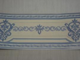 Behangrand blauw wit
