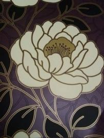 paars rozen behang bloemen 26