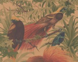 vogel behang  met mooie blaadjes vogel xx87