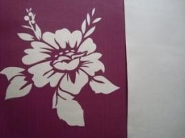 bloemen vlies behang paars zilver 134