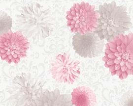 Modern bloemen vlies behang 95219-2