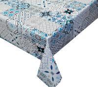 patchwork portugese tegel bloemen tafelzeil 501001