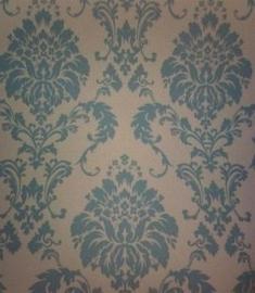 barok behang blauw creme trendy xx18