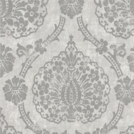 Vintage Barok behang grijs 51656