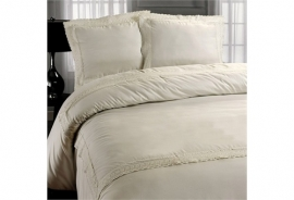 Fancy Embroidery - DBO Rome Creme - Creme