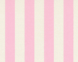 roze strepen behang 35990-2