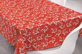 rood wit bloemen tafelzeil tafelkleed  ptx14
