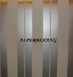 zilver wit streepjes vinyl behang