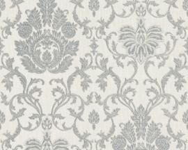 Behang Glitter Grijs barok 33901-0