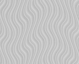 Retro behang grijs 96015-3