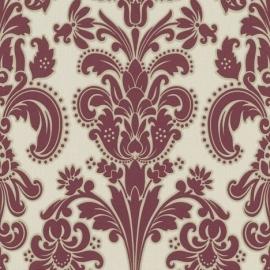 9698-06  rood modern barok behang