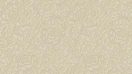 5784-02 klassiek vlies behang bloemetjes beige 3D effect