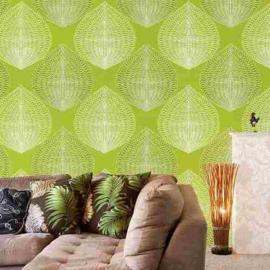 Retro behang groen jw3293/35