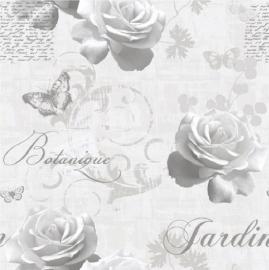behang bloemen vlinder 127501