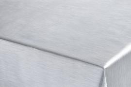 satijn glim tafelzeil tafelkleed zilver  ptx10