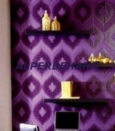 barok behang paars zwart 420