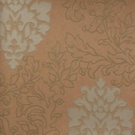 barok behang vinyl creme oranje 113