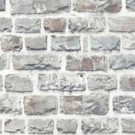 Steen behang grijs taupe voelbaar relief 36140-3