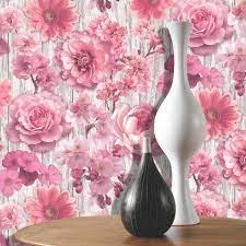 Bloemen behang rose 270556
