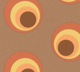 Retro behang 57235 Nena Grafisch orange