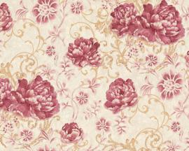 Glitter behang bloemen 95968-4