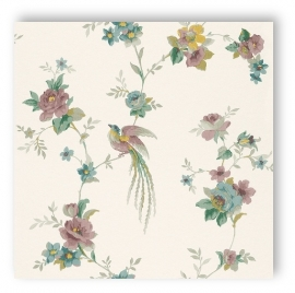 Sophie Charlotte 440638 bloemen paradijsvogel  vliesbehang