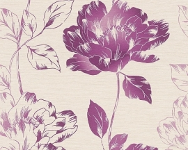 bloemen behang paars 958815