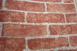 rood terra steenstrips behang  25