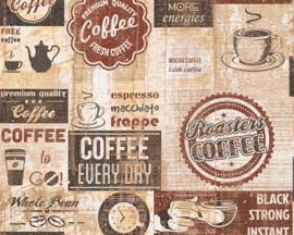 AS Creation Simply Decor Coffee behang 33480-2