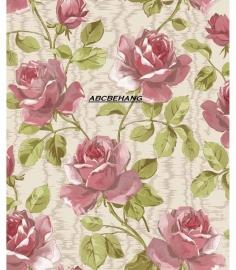 rozen bloemen vinyl behang xxt