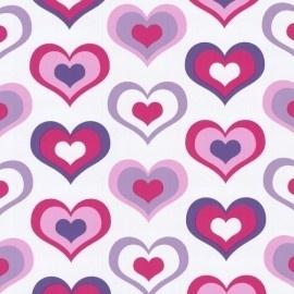 dutch kids dreamworld 05704-10 wit roze paars hartjes behang