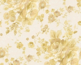 Behang Bloemen wit goud AS Romantica 30427-5