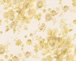 Behang Bloemen wit goud AS Romantica 30427-5