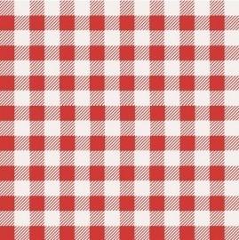 meisjes rood wit ruiten behang 9133
