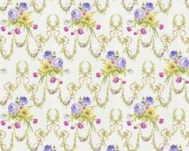 engelse bloemen behang satijn as creation romanze 31282-2