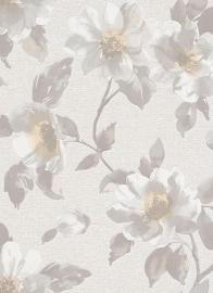bloemen behang met glitter in de hart van de bloem 6982-09