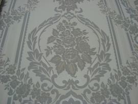 Barok  grijs wit  behang 6850-7