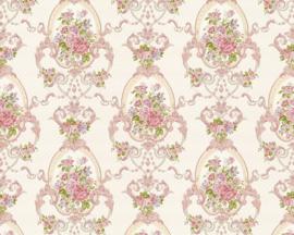 Engelse bloemen behang 95505-1